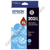 Genuine Epson T02P2/202XL High Yield Cyan Ink Cartridge