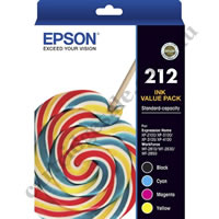 A Set Genuine Epson 212 Ink Cartridges B/C/M/Y
