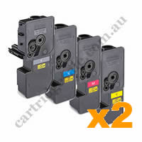 2 Sets Compatible Kyocera TK5234K,C,M,Y Toner Cartridges