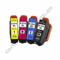 A Set Compatible Epson 312XL B/C/M/Y High Yield Ink Cartridge