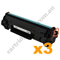 3 x Compatible HP CF248A 48A Black Toner Cartridge