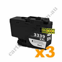 3 x Compatible Brother LC3339XLBK Black Ink Cartridge