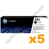 5 x Genuine HP CF248A 48A Black Toner Cartridge