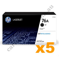 5 x Genuine HP CF276A 76A Black Toner Cartridge