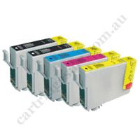 2 Compatible T3451/702XL Black+T3452-4/702XLCMY HY Ink Cartridge