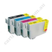 A Set Compatible Epson 702XL/T3451-4 B/C/M/Y High Yield Ink Cart