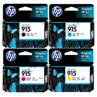 A Set Genuine HP 915 B/C/M/Y Ink Cartridges