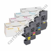 A Set Genuine Kyocera TK5224K,C,M,Y Toner Cartridges